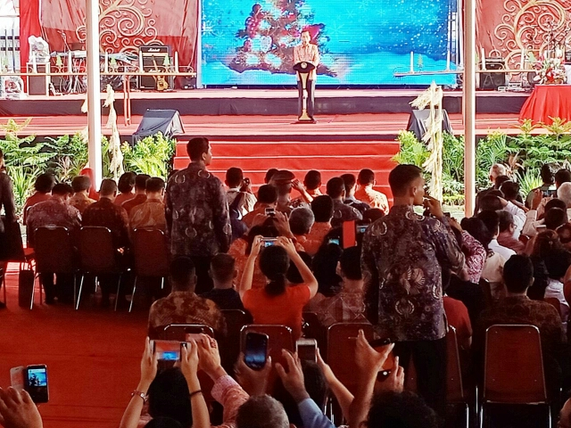 Natal Oikoumene Nasional di Kalbar, Jokowi Minta Jaga Persatuan Bangsa