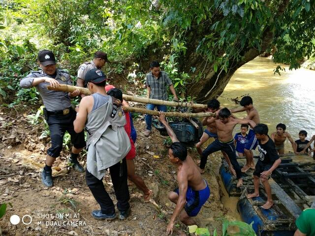 Polsek Meranti Hentikan Tambang Emas Illegal