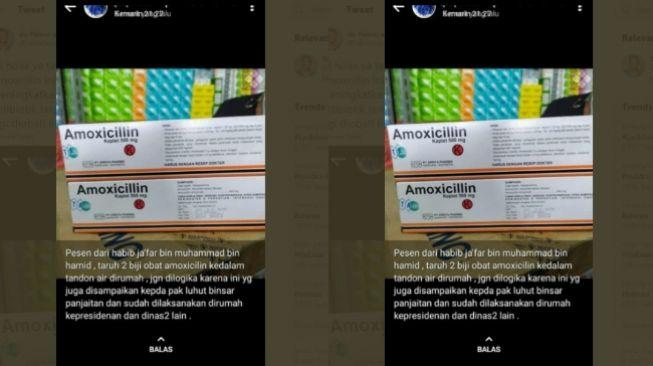 CEK FAKTA: Benarkah Taruh Obat Amoxicilin di Tandon Air Cegah Corona?