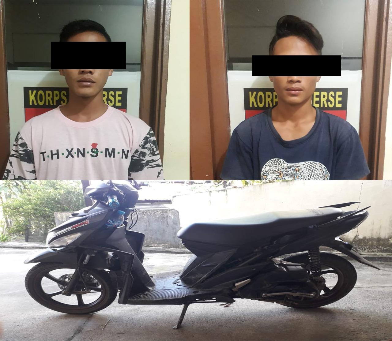 Dua Pelaku Curanmor Ditangkap Polsek Monterado Polres Bengkayang