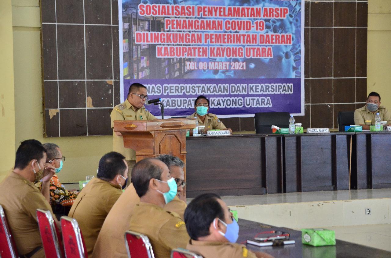 Pemkab Kayong Utara Gelar Sosialisasi Penyelamatan Arsip Penanganan Covid-19