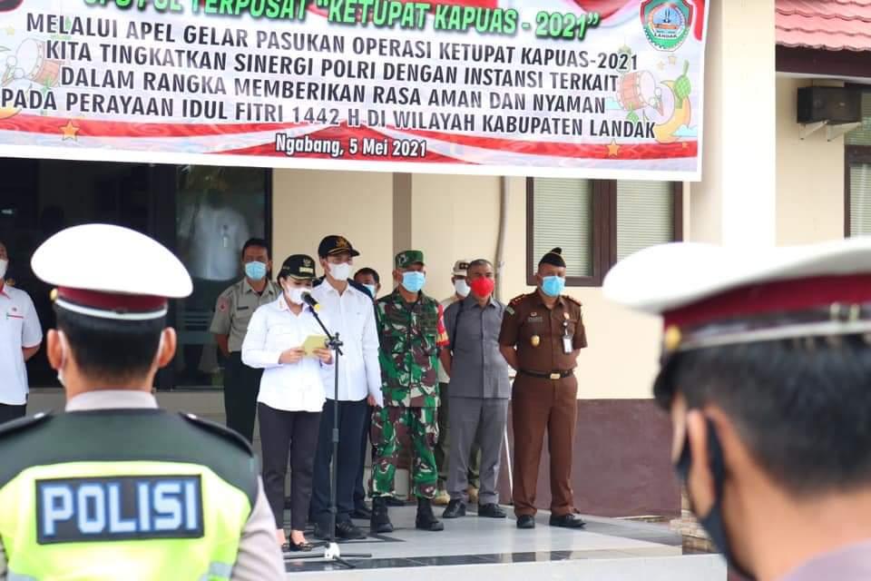 DPRD Landak Hadiri Apel Gelar Pasukan Operasi Ketupat Kapuas 2021