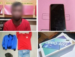 Aksi Pencurian HP Terekam CCTV, Pelaku Dibekuk di Sungai Duri Bengkayang