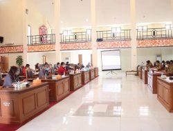 Banggar DPRD Landak Bersama TAPD Bahas Laporan Realisasi Semester 1 dan Prognosis APBD 2021
