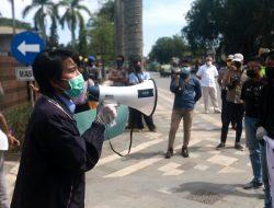 Aksi Tuntut Keseriusan Walikota Tangani Covid-19 oleh Aliansi Mahasiswa Pontianak, Berakhir Damai