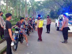 Polisi Razia Aksi Balap Liar di Jalan Kantor Bupati Sekadau