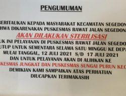 18 Nakes Terkonfirmasi Positif, Puskesmas Segedong Ditutup hingga 17 Juli