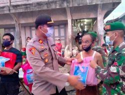 Polres Bengkayang Gandeng TNI Bagikan Paket Sembako