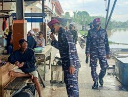 Usung Kearifan Lokal, Prajurit Korps Marinir Ajak Warga Mempawah Disiplin Prokes