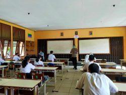 Kapolsek Sungai Raya Kepulauan Pantau Kegiatan Tatap Muka Tingkat SMA