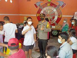 Petugas Pemadam Kebakaran Jungkat Raya Dukung Vaksinasi Cegah Corona