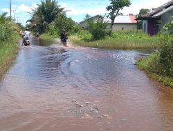 Pemukiman dan Ruas Jalan di Dusun Parit Naim Terendam Banjir