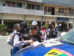 Tim Gabungan Razia Kendaraan Angkutan Barang