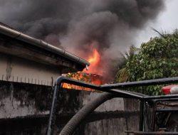 Satu Unit Rumah Terbakar di Jalan Pancasila Pontianak