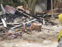 Pilu! Rumah Marbot Masjid di Penibung Ludes Terbakar