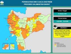 Delapan Kecamatan di Mempawah Berpotensi Hujan Disertai Angin Kencang